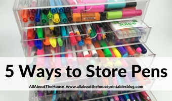 5 ways to store planner pens organization stationery favorite office supplies planning 101 acrylic drawers pen cup desk storage