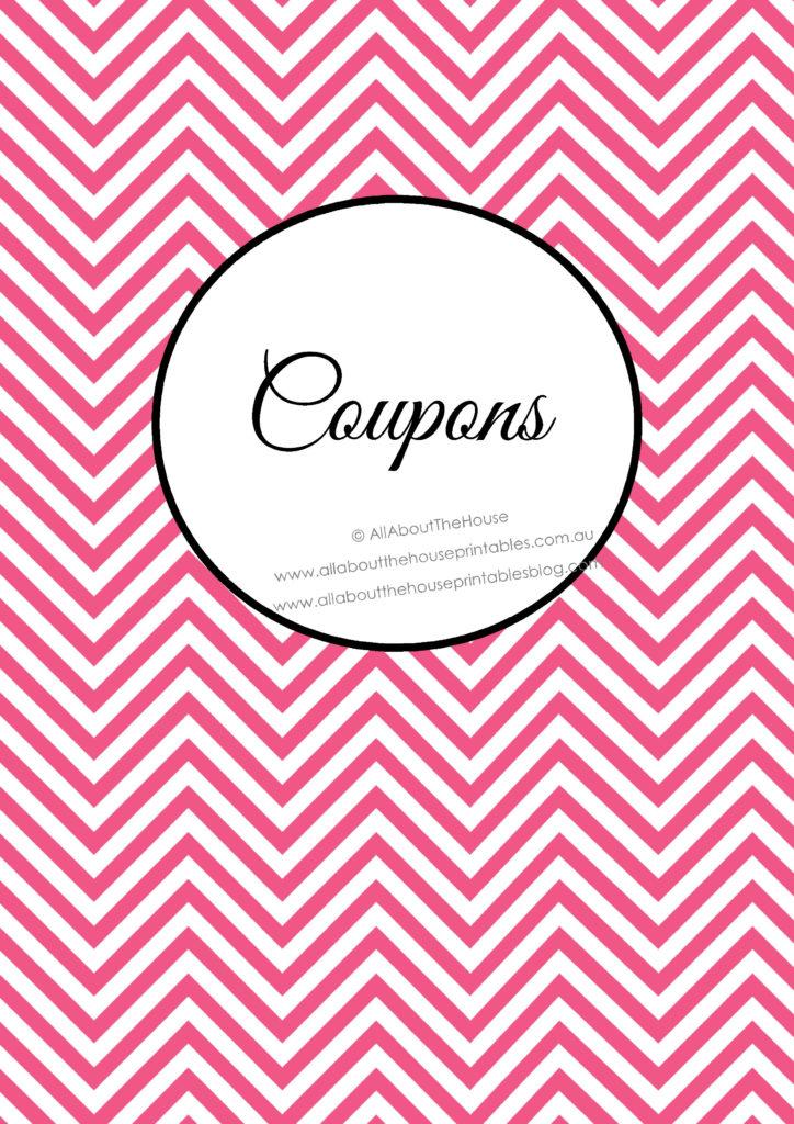 Coupon Binder - Planner Cover printable pdf diy couponing saving money grocery shopping tips ideas organizing organization home binder
