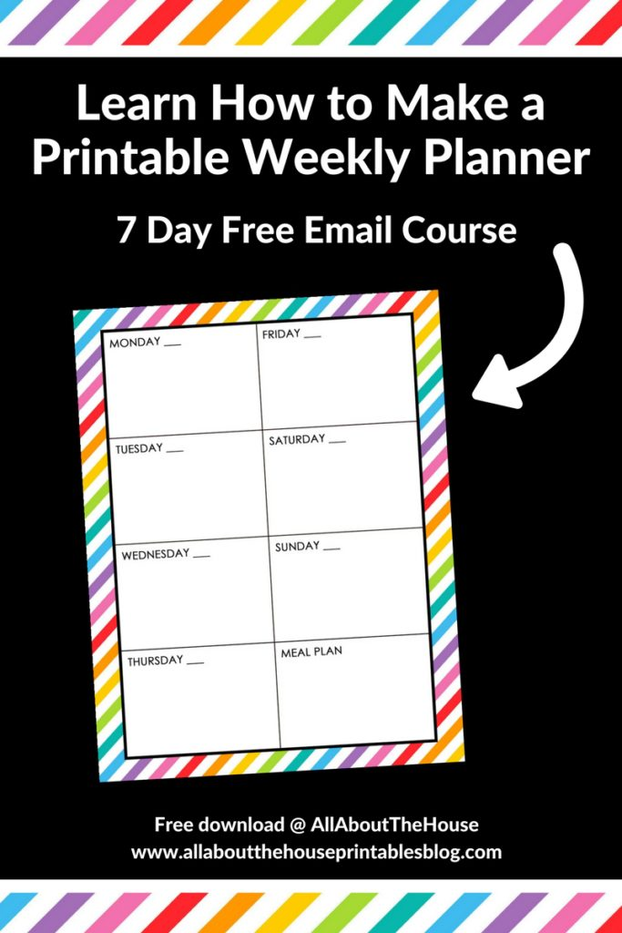 How to make a weekly planner free email course