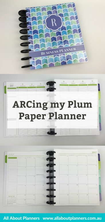 arcing my plum paper planner discbound tutorial tips best discbound system