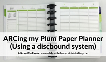 arcing the plum paper planner everything to know to try it yourself how to tutorial discbound system pros and cons versus coil