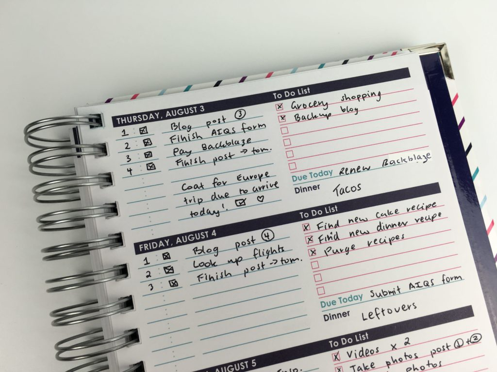 Using the ashley shelly planner for weekly planning 52 for Ashley room planner