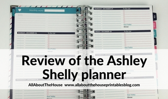 Review of the Ashley Shelly Planner – Weekly Planner (pros, cons and a walkthrough)