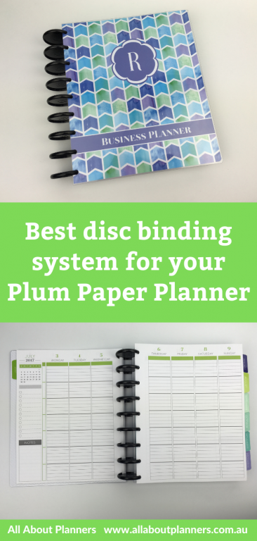 best disc binding system for your plum paper planner how i arced my plum paper planner discbound system comparison