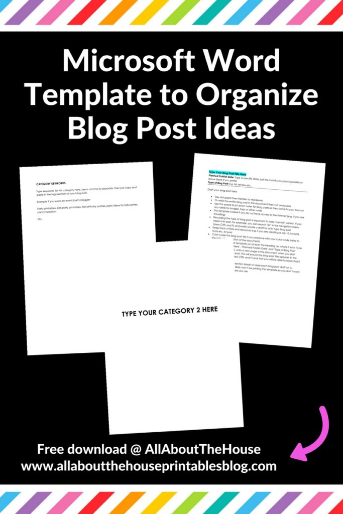 blog post draft organizer microsoft word template download free download color coding worksheet diy organized