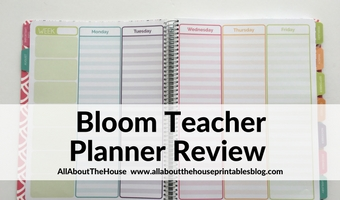 Bloom Teacher planner review and flipthrough