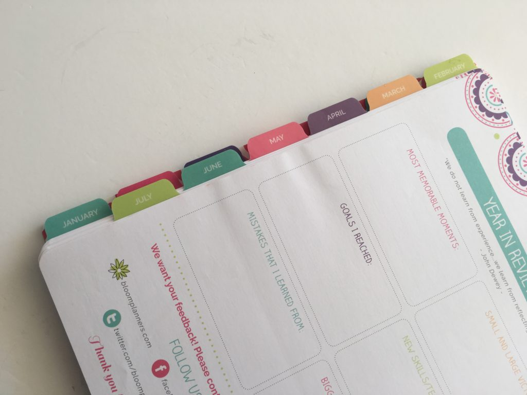 bloom teacher planner review and flipthrough