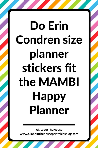 do erin condren size planner stickers fit the mambi happy planner classic size vertical sticker kit decorating