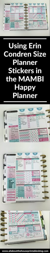 do erin condren size stickers fit the mambi happy planner vertical sticker kit plan with me weekly spread inspiration ideas deco