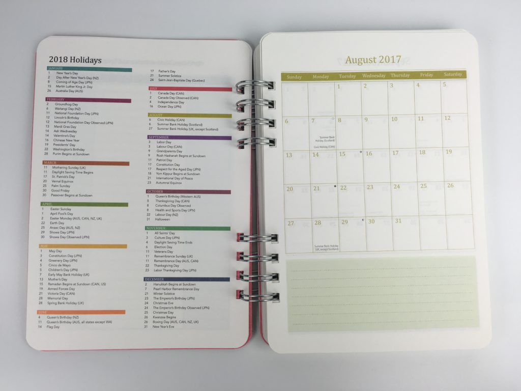 do it all planner review orange circle studio usa australia new zealand canada holidays printed
