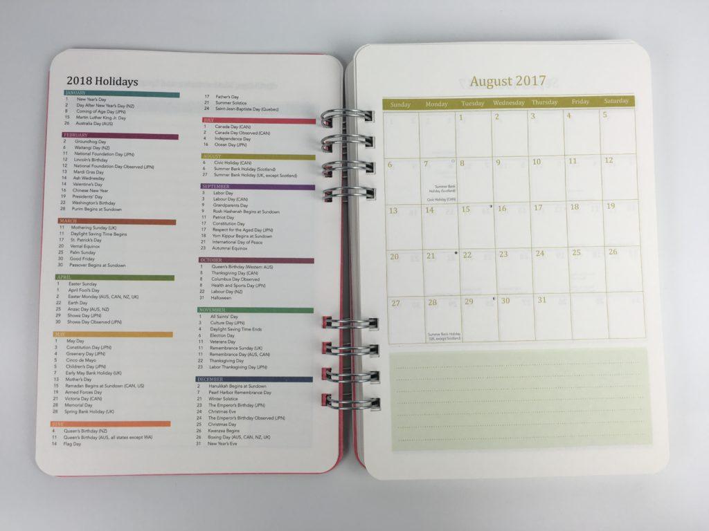 do it all planner review orange circle studio usa australia new zealand canada holidays printed