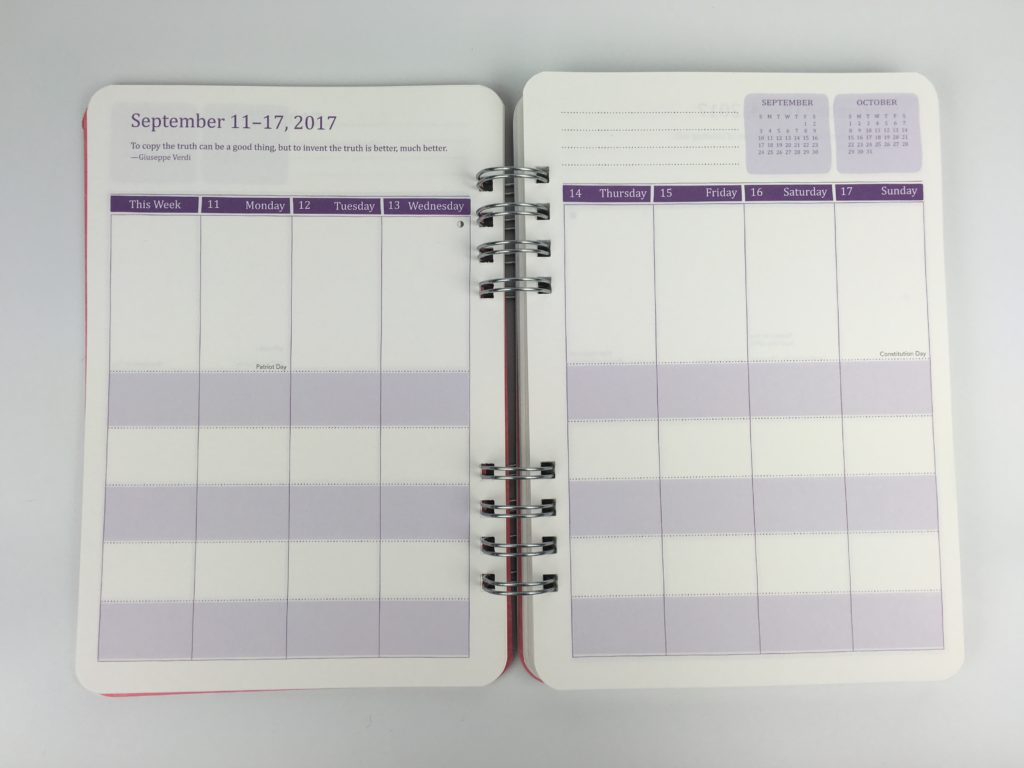 do it all weekly planner 2 page spread categorised school subject teacher college class small a5 section cheap alternative to limelife planners