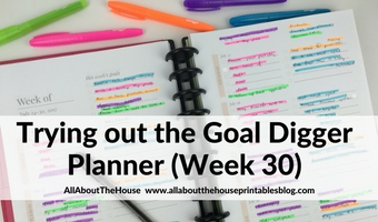 Using the Goal Digger Planner by Susana Cresce (52 Planners in 52 Weeks – Week 30)