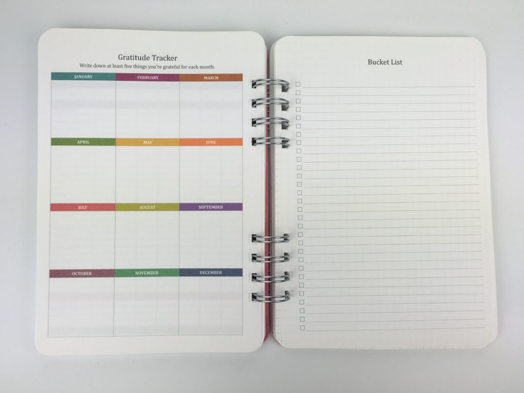 gratitude tracker and bucket list printables for planners do it all planner orange circle studio