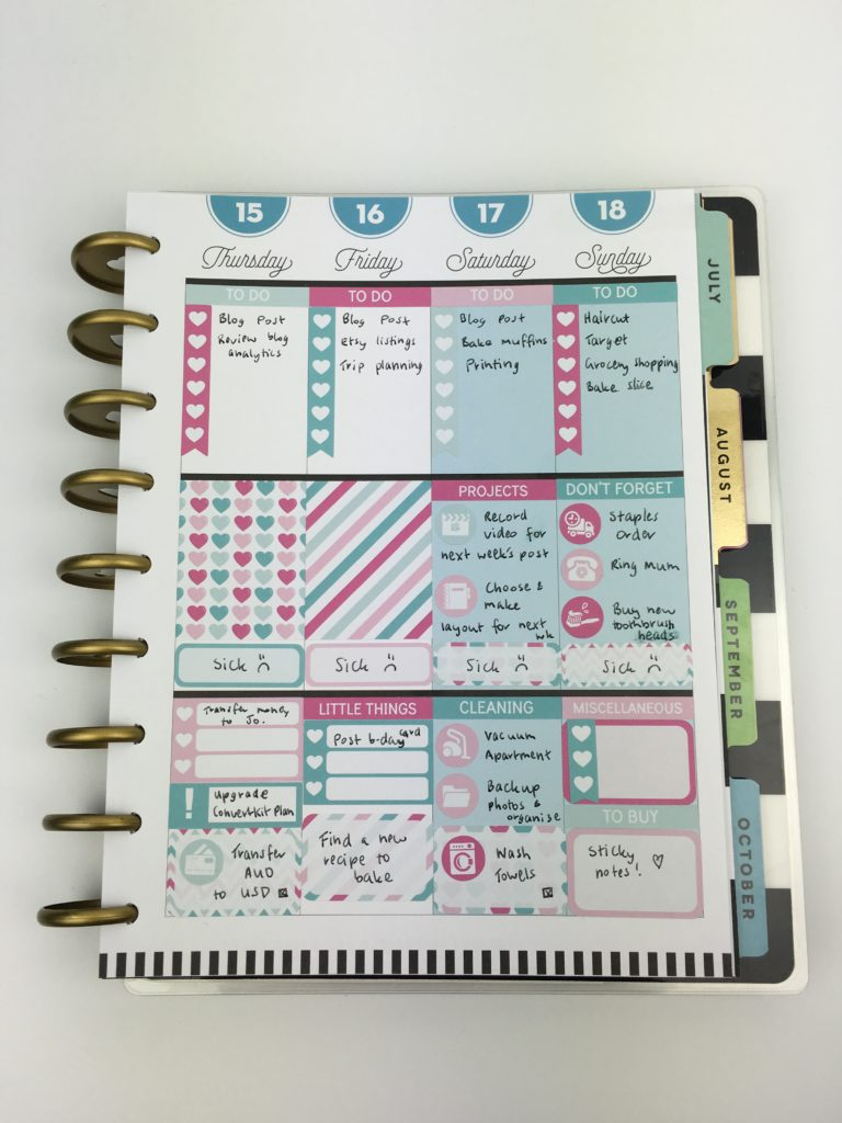 happy planner classic size no white space planner stickers using erin condren size vertical review functional planning plan with me