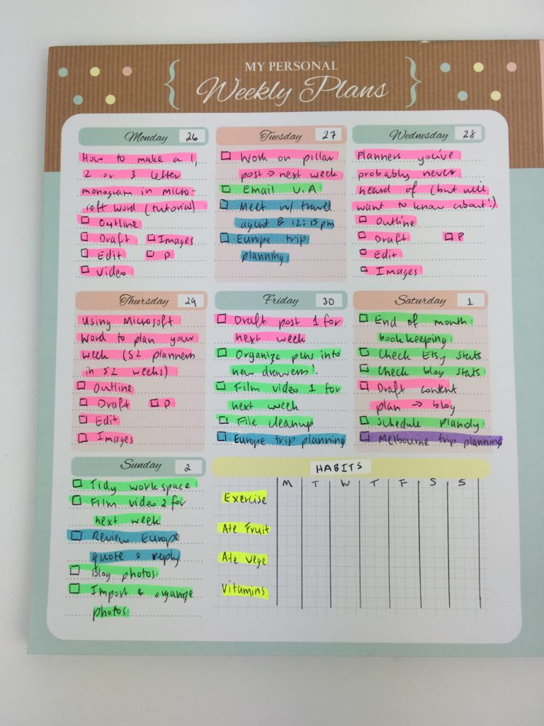 how to color code your planner so you'll actually use it effectively pens versus highlighters favorite planning supplies desktop notepad inspiration blogging tips-min