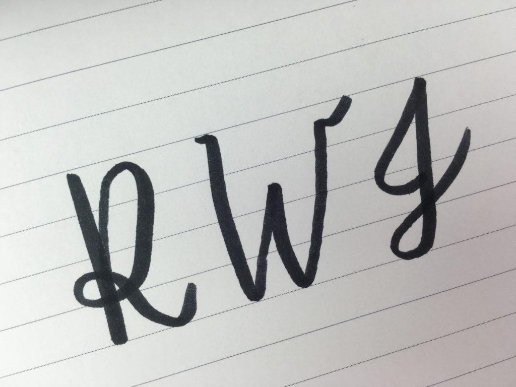 how to do calligraphy monogram wedding diy tutorial for beginners free handlettering practice worksheet printable