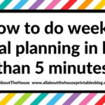 How to do color coded weekly meal planning in less than 5 minutes using sticky notes