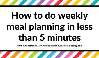 how to do weekly meal plannng in less than 5 minutes painless quick easy method ideas planner inspiration tips planning cooking