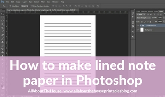 How to make lined note paper DIY planner insert refills in Photoshop (quick and easy step by step tutorial)
