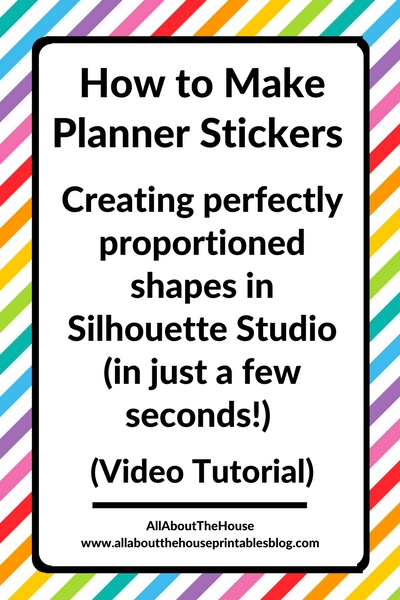 how to make symmetrical shapes in silhouette studio tutorial make planner stickers square rectangle circle diy