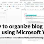 How to keep blog post ideas organized and color coded using Microsoft Word (plus, download a copy of my template for free!)