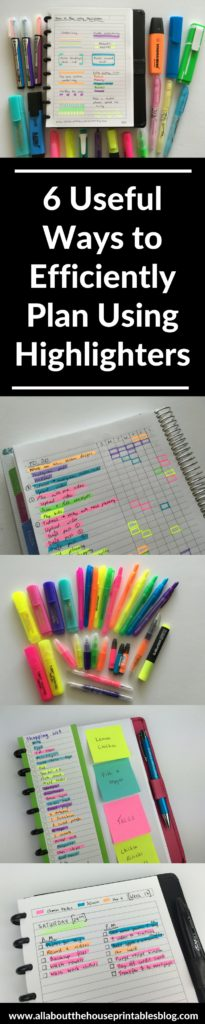 how to plan your week using highlighters color coding efficient planning methods planner tips inspiration ideas inspo daily