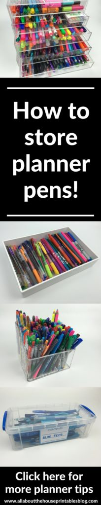 how to store planner pens ideas tips color coding planner supplies pen case acrylic storage organizer where to buy organization