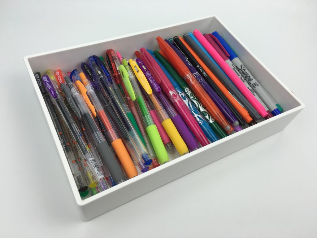 how to store planner pens pen haul poppin tray stationery pen addict favorite pens for planning best pens for planners