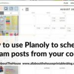 How to use Planoly to schedule Instagram posts from your computer (plus free printable list of 100 hashtags for planner addicts!)