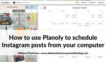 how to use planoly to schedule instagram posts from your computer tutorial instagram without iphone app desktop quick easy