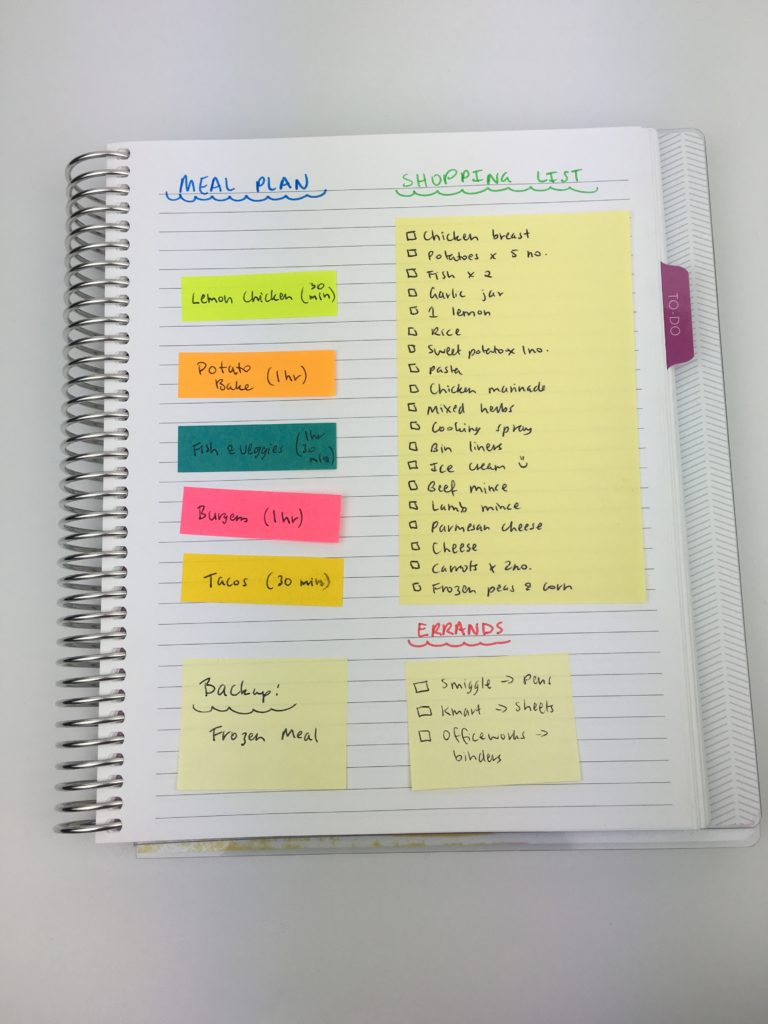 10 ways to plan using sticky notes for Color coding planner