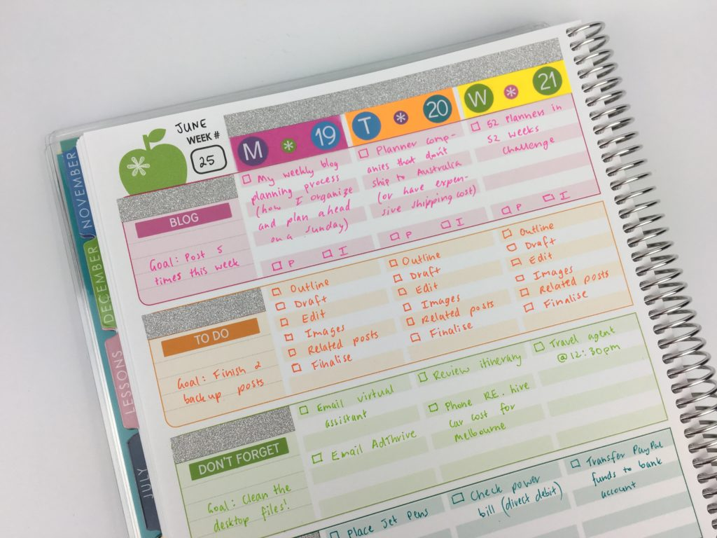 Using the erin condren teacher planner for weekly planner for Color coding planner