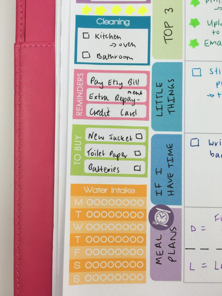 how to use the sidebar of your weekly planner tips ideas inspiration limelife planner printable stickers rainbow hack cheap free diy-min