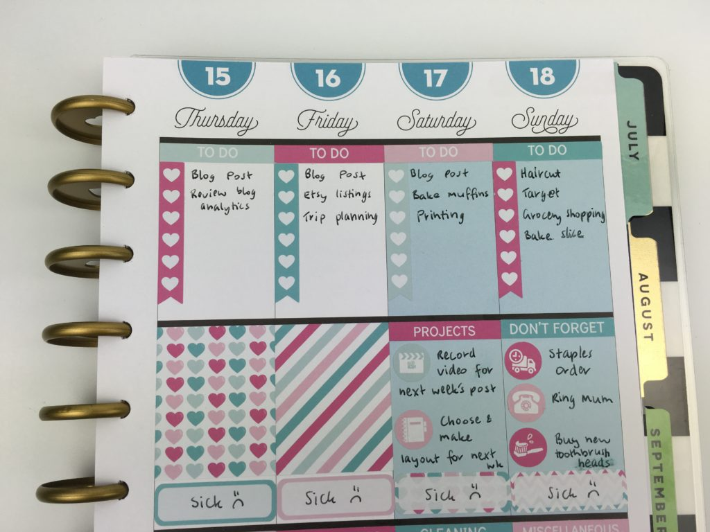 mambi happy planner decorating ideas tips inspiration no white space themed sticky kit erin condren size stickers comparison inspo