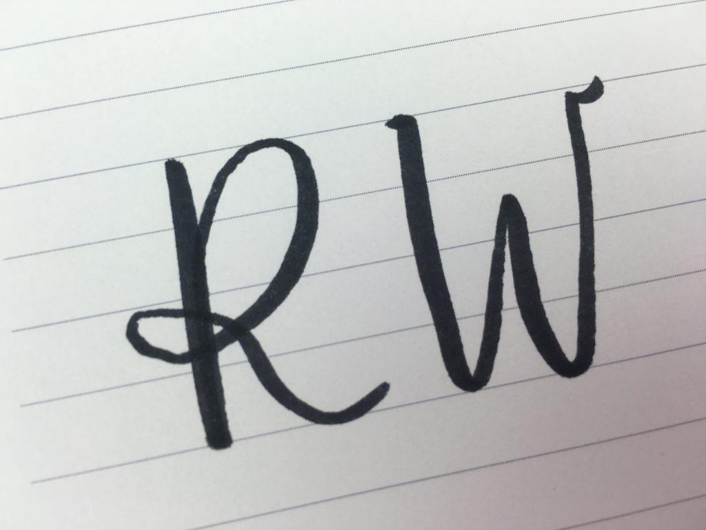monogram practice how to make a monogram 2 letter 3 diy tutorial calligraphy brush lettering