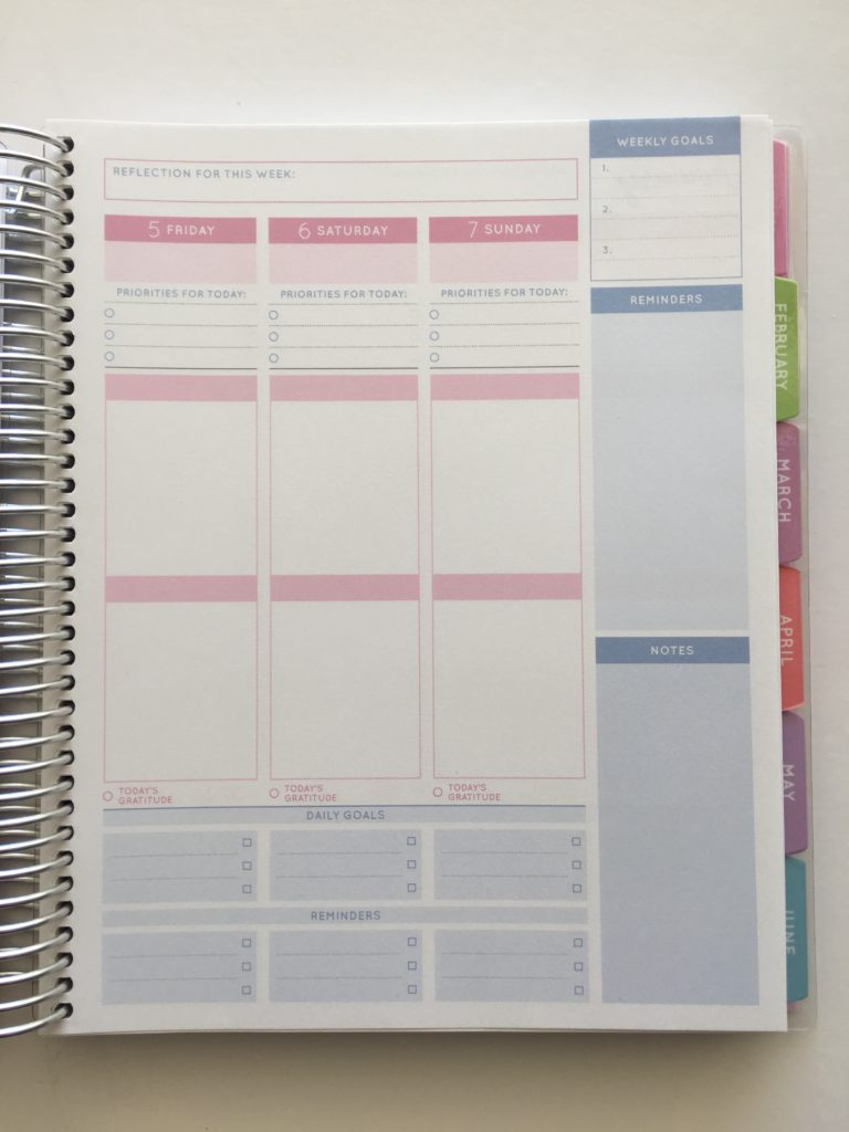 otto 2018 goals planner from officeworks 2 page weekly spread starts monday top 3 checklist meal planning space functional color coding laminated tabs