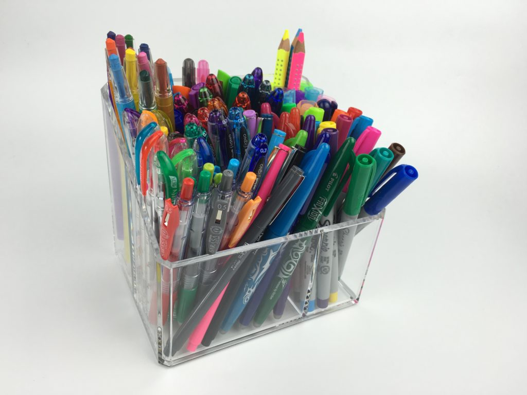 planner pen storage ideas acrylic organizer bathroom aldi favorite pens for planning review cheaper alternative desk organization ideas inspo tips