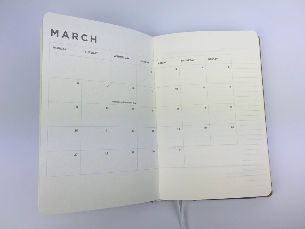 simple weekly planner minimalist monday start 2 page monthly calendar book bound australia