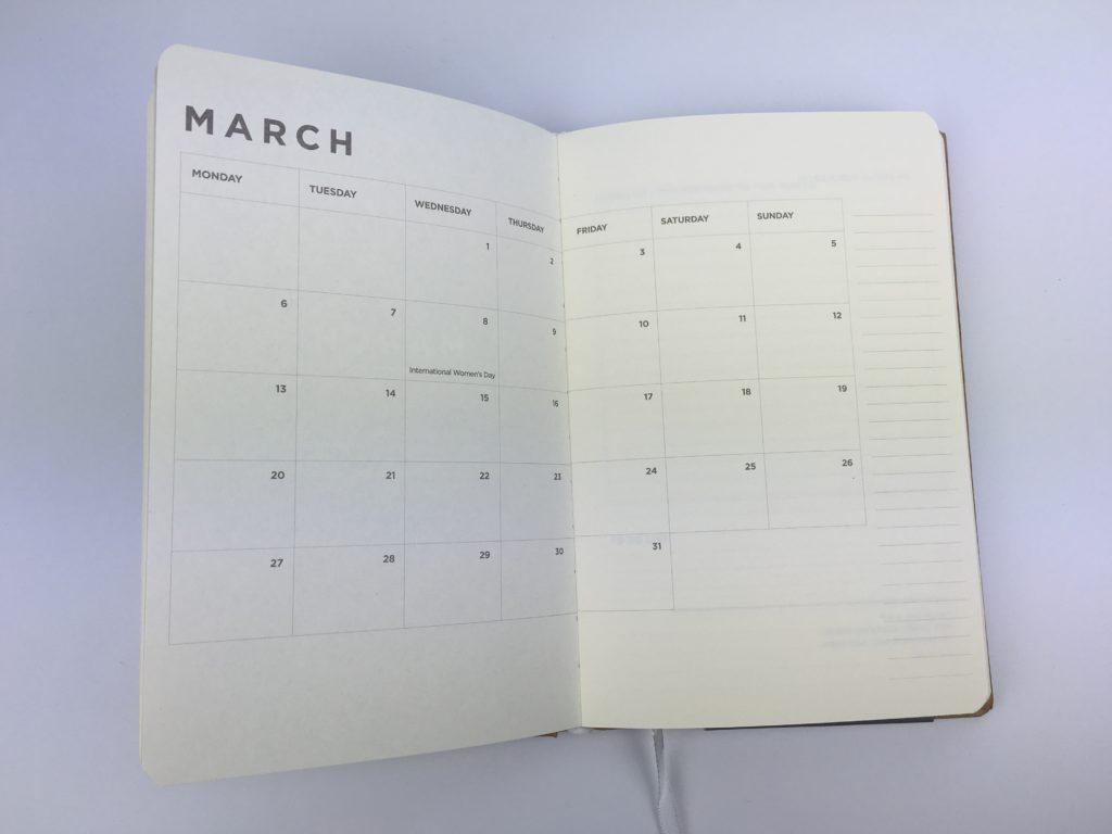 simple weekly planner minimalist monday start 2 page monthly calendar book bound australia