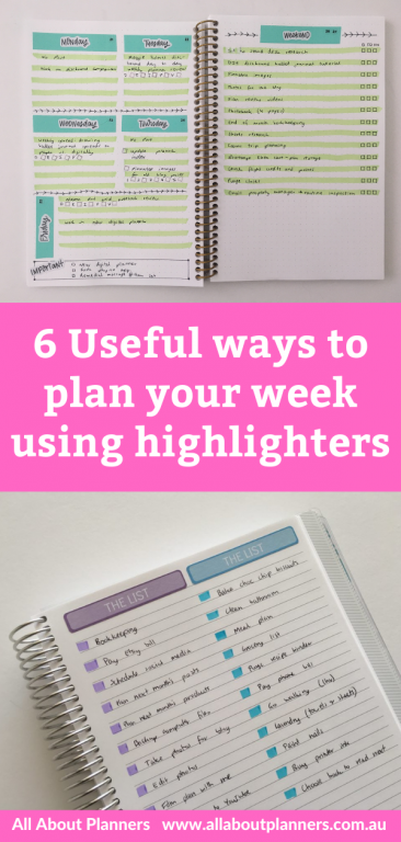 useful ways to plan your week using highlighters how to color your planner quick simple easy planner decorating ideas all about planners