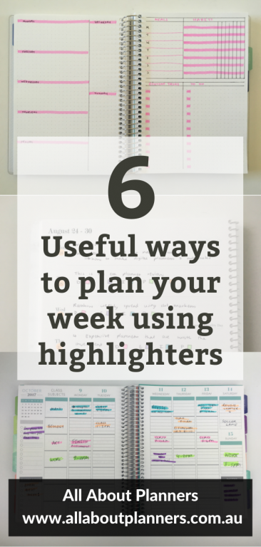 useful ways to plan your week using highlighters how to color your planner quick simple easy planner decorating ideas all about planners functional school college tips