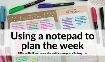 using a weekly planner notepad cheaper alternative to paper planner ideas inspiration tips decorating color coding highlighters