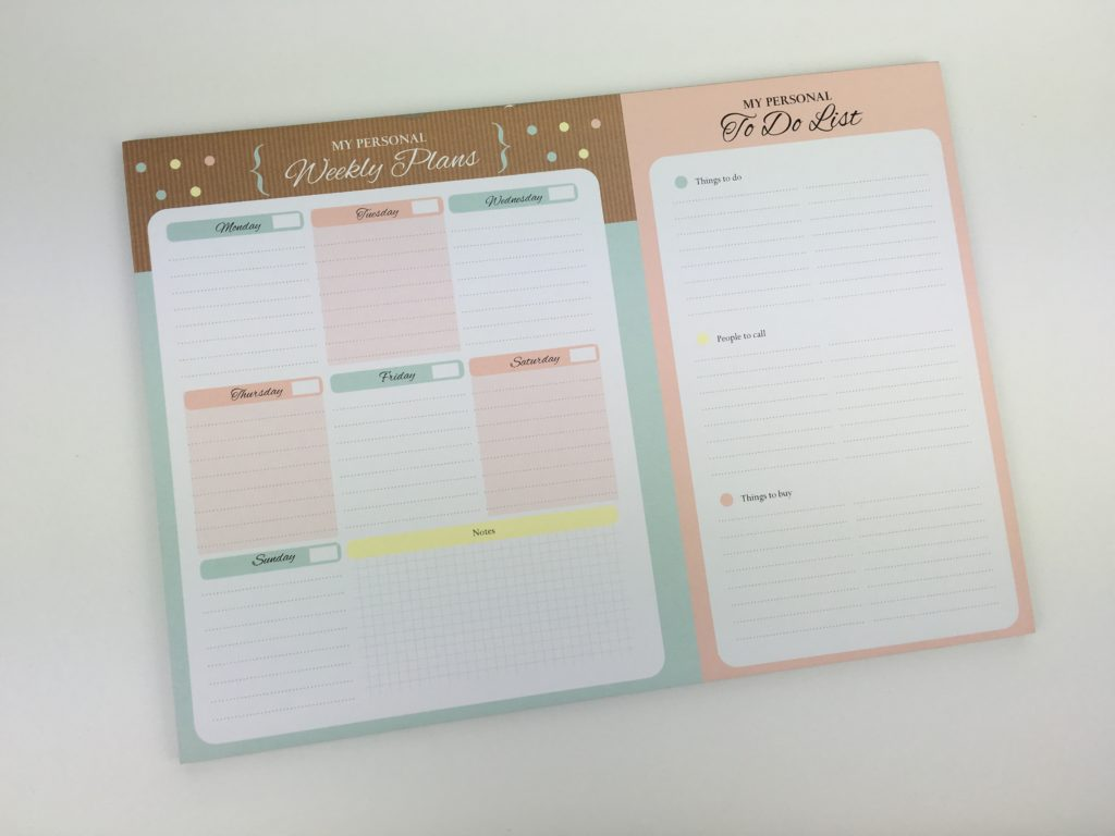 using a weekly planner notepad for weekly planning pros and cons planner spread diy ideas inspiration cheap alernative to traditional paper diary