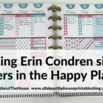 Using Erin Condren Size Planner Stickers in MAMBI Classic Happy Planner (52 Planners in 52 Weeks – Week 24)