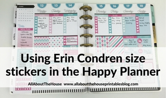 Using Erin Condren Size Planner Stickers in MAMBI Classic Happy Planner (52 Planners in 52 Weeks – Week 24)