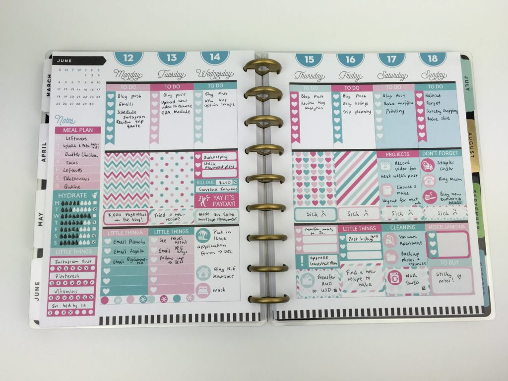 using erin condren size planner stickers in mambi classic planner theme kit vertical life planner review plan with me weekly spread-min-min