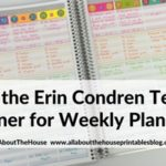 Using the Erin Condren Teacher Planner for weekly planner (52 Planners in 52 Weeks – Week 25)
