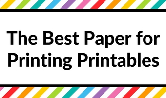 Best Paper for Printing Printables