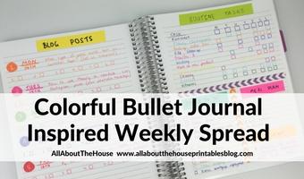Colorful Bullet Journal Inspired Weekly Spread (Week 33 of the 52 Planners in 52 Weeks Challenge)